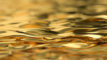 Golden Wave Background. Gold B...