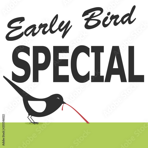 Photo  early bird special poster