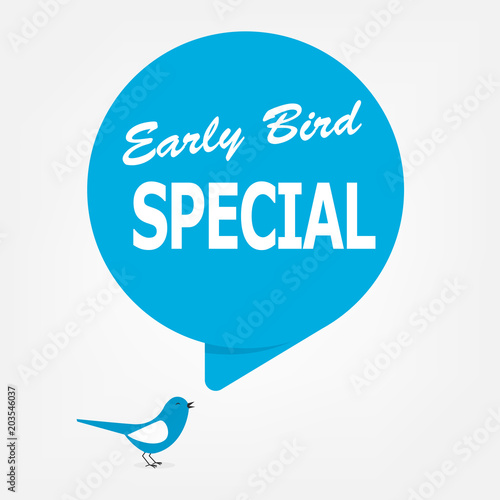 early bird special poster Canvas Print