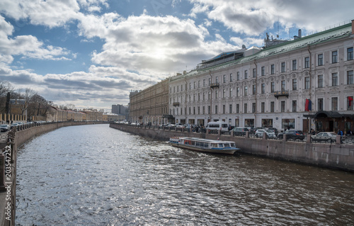 Foto op Aluminium Asia land Embankment of the Moika River in St. Petersburg, Russia.
