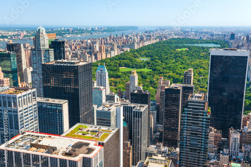 Tuinposter Amerikaanse Plekken New York skyline and Central Park