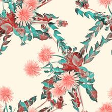 Dandelion Seamless Pattern. Wa...