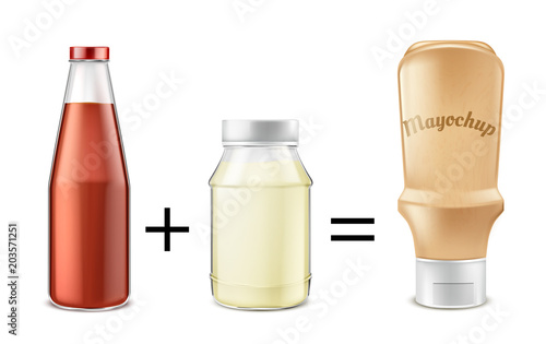 Valokuva  Sauce recipe vector concept illustration