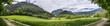 Grüne Landschaft, Hochplateau, nahe Bad Reichenhall, Breitbild