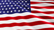 The flag of the United States with 51-th star. A new American flag.