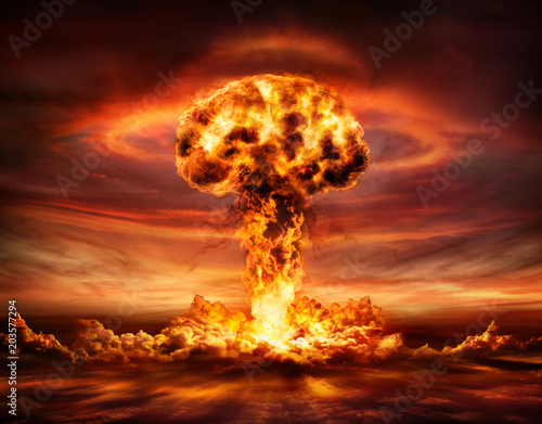 Nuclear Bomb Explosion -  Mushroom Cloud Fotobehang