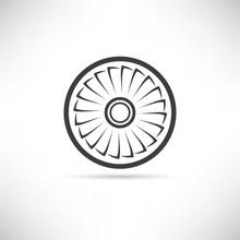 Jet Engine Turbine, Wind Turbine Icon