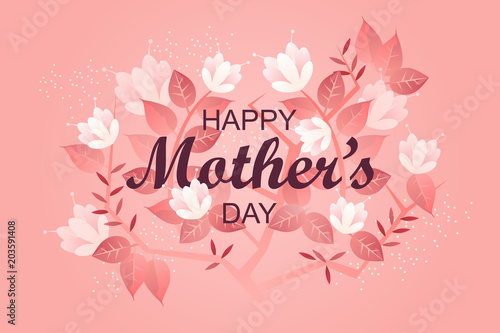 Happy mothers day banner holiday greeting card template flowers happy mothers day banner holiday greeting card template flowers vector illustration m4hsunfo