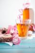 canvas print picture - Sugar donuts and sima