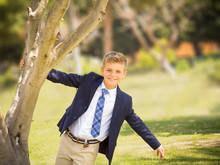 Fresh Portrait Of A Boy Dresse...