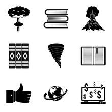Literary Icons Set. Simple Set...