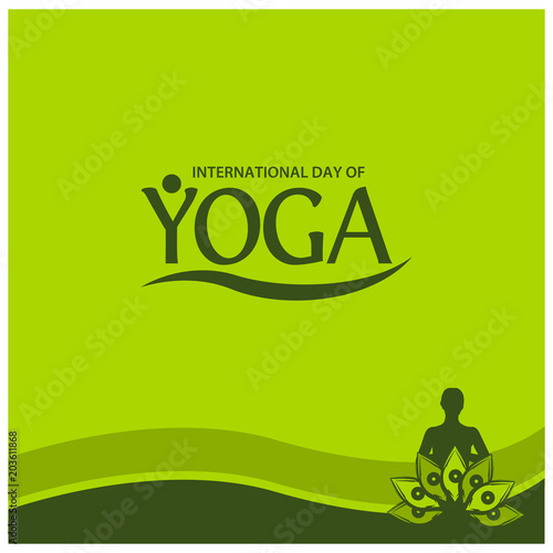 Vector Illustration Green Background For Celebrating International Yoga Day Of June 2 Designs For Posters Backgrounds Cards Banners Stickers Etc Buy This Stock Vector And Explore Similar Vectors At Adobe Stock