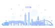Glasgow skyline Scotland UK vector city buildings