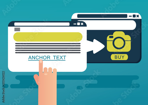 Cuadros en Lienzo Anchor text concept. Vector illustration