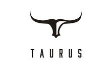 Long Horn Bull Cow Cattle Head Toro Taurus Logo Design Inspiration