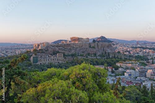 Deurstickers Toscane Athens Greece, Parthenon and Acropolis panoramic view