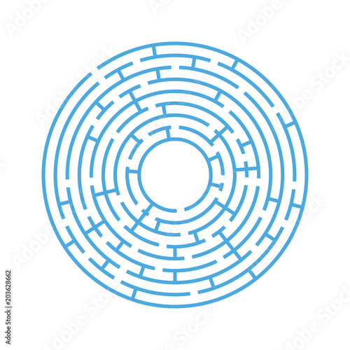 Abstract round maze  An educational game for children and