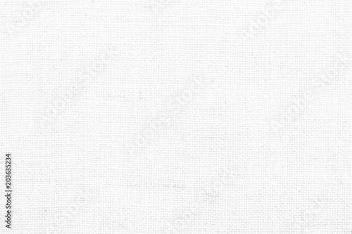 Fotografie, Obraz  Hessian sackcloth woven texture pattern background in white grey color