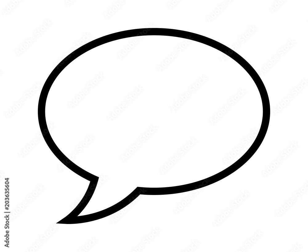 Fototapety, obrazy: Speech bubble / speech balloon or chat bubble line art icon for apps and websites