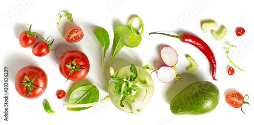 Staande foto Groenten various fresh vegetables