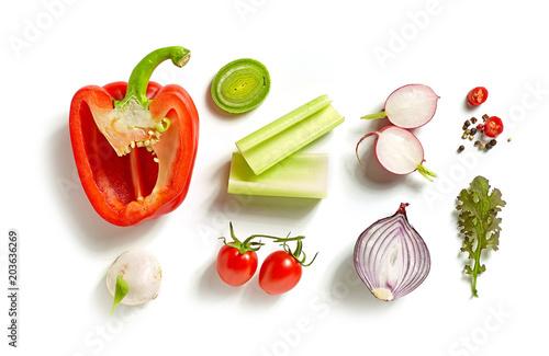 Recess Fitting Vegetables various fresh vegetables