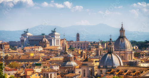 Garden Poster Palermo Rome, Italy Skyline in Panoramic View