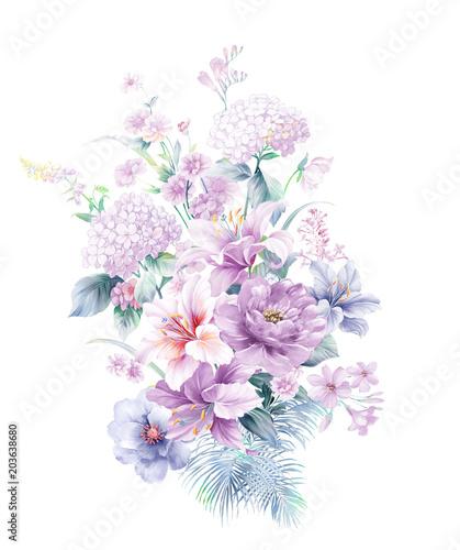 fioletowy-kwiat-rozy-akwarela