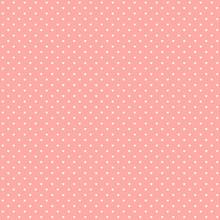 Pink Pastel Heart Shape Retro Design Polka Dots Background, Seamless Square Tile