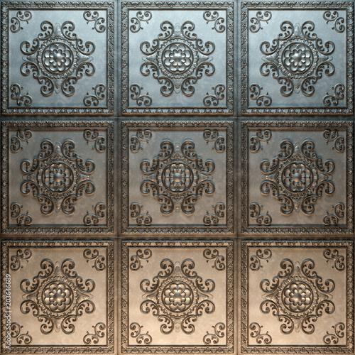 Foto  Vintage decorative pattern. 3D rendering.