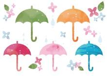 水彩の傘セット