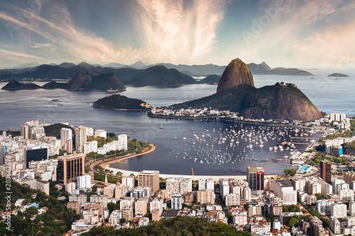 Rio de Janeiro Beautiful Sunset - Brazil Wallpaper Mural