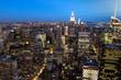 New York City Night Skyline NY - USA