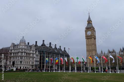 Foto op Canvas Londen rode bus great britain