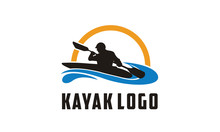 Kayak Boat Paddle Pedal, Silho...