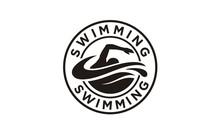 Swimming Sport Stamp Sticker E...