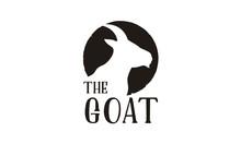 Rustic Goat Head Horns Silhouette Logo Design Inspiration