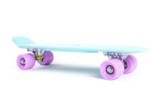 Plastic Skateboard Isolated On...