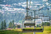 Chair Lift In Beautiful Mounta...