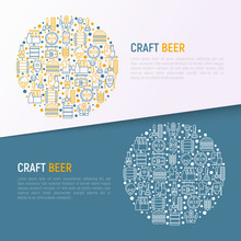 Craft Beer Concept In Circle W...