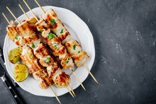 Grilled Cilantro Chicken Skewers