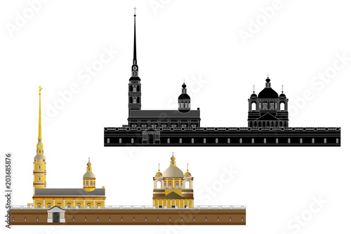 Peter and Paul Fortress, isolated Fototapet