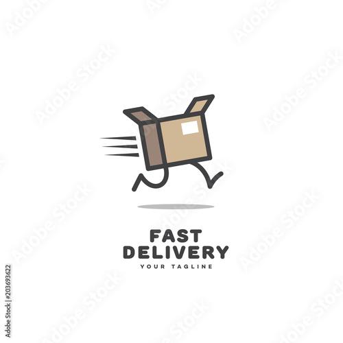 Fotografía  Fast delivery logo