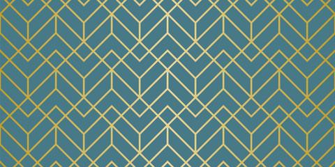 Fototapeta Minimalistyczny Luxury Geometric Pattern. Seamless Vector Lines. Golden Look.