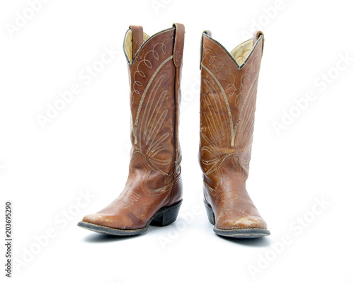 Cowboy's boots from a natural leather Tapéta, Fotótapéta