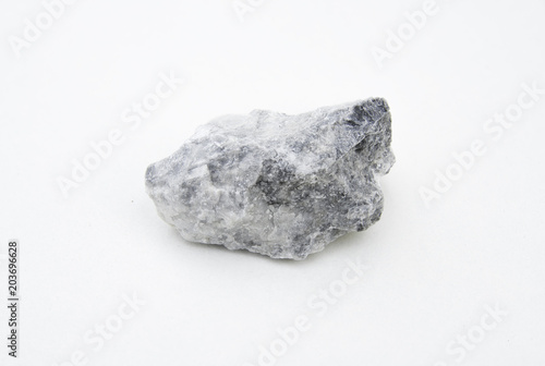 barite mineral isolated over white Wallpaper Mural