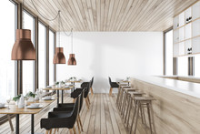 Wooden Ceiling Restaurant Inte...