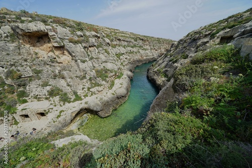 Foto op Canvas Khaki Ghasri Valley in Malta