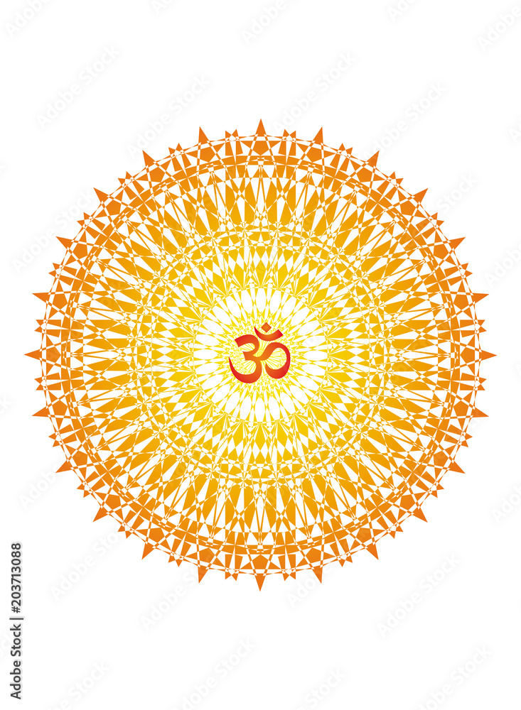 Photo  Mandala with the aum sign