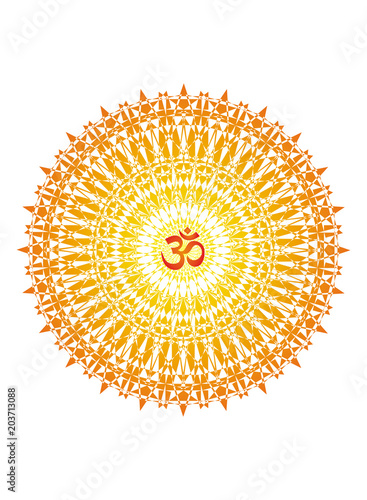 Mandala with the aum sign Fototapeta