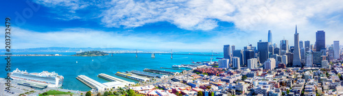 Aerial View of San Francisco Bay Panorama Wallpaper Mural